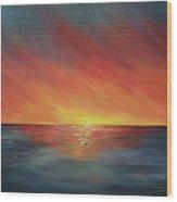 The Edge Of Sunset Wood Print