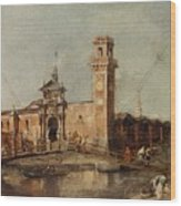 The Entrance To The Arsenal In Venice  Wood Print
