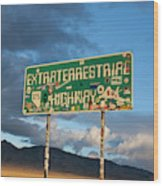The Extraterrestrial Highway Wood Print