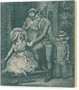 The Fair Penitent Laetitia In Penitence Wood Print