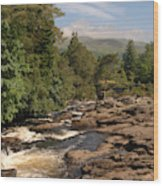 The Falls Of Dochart And Bridge At Killin In Scottish Highlands Wood Print