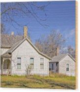 The Farmhouse, Washhouse And Garage Wood Print