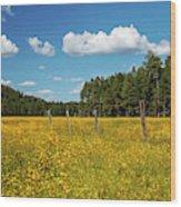 The Field Wood Print