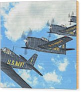 The First Blue Angels - Oil Wood Print