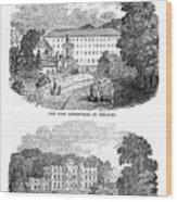The First Cotton Mill At Cromford Wood Print