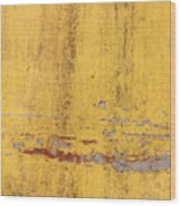 The Flaking Yellow Color With Scratched Wood Print