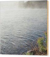 The Fog Rolls  Wood Print