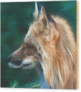 The Fox 235 - Painting Wood Print