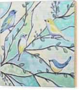The Glass Birds Wood Print