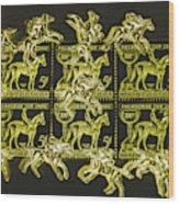 The Golden Race Wood Print