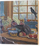 The Good Harvest Country Kitchen By Richard Pranke Wood Print