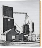 The Grain Elevator Wood Print