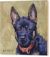 The Guard Dog Wood Print