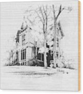 The Hauser Mansion, Helena, Montana Wood Print