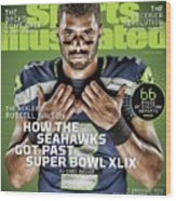 The Healer Russell Wilson 2015 Nfl Football Preview Issue Sports Illustrated Cover Wood Print
