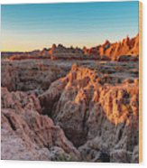 The High And Low Of The Badlands Wood Print
