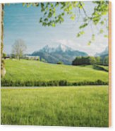 The Hills Are Alive Wood Print