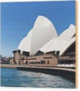 The Iconic Sydney Opera House.  Wood Print