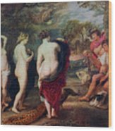 The Judgment Of Paris, C1635-1638 Wood Print