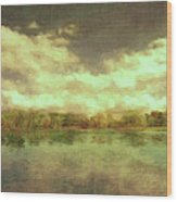 The Lake - Panorama Wood Print