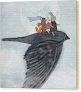 The Light Bird Wood Print