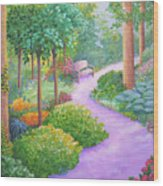The Lilac Path - Rest Awhile Wood Print