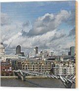 The London Skyline Towards St Pauls Wood Print