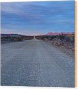 The Long Dirt Road Wood Print