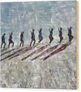 The Long Walk, World War Two Wood Print