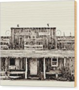 The Longhorn Store Wood Print