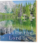 The Lord Is With Me Wood Print