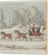 The Mail Coach In A Storm Of Snow 1825 Wood Print