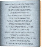 The Man In The Glass Poem - Blue Grey Wood Print