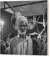 The Many Shades Of Delhi - Turbaned Man Wood Print