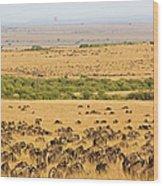 The Masai Mara Wood Print