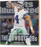The Men. The Myths. The Cowboys Qbs. Sports Illustrated Cover Wood Print