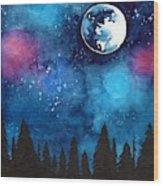 The Moon Wood Print