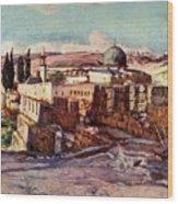 The Mosque Of El Aksa Wood Print