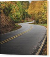 The Mountain Road Wood Print