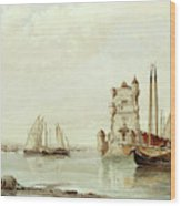 The Mouth Of The Tagus, Lisbon Wood Print