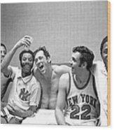 The New York Knicks Starting Five -- Wood Print