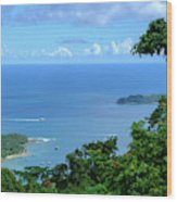 The North Bay As Seen From Mount Harriett Wood Print