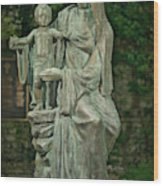 The Offering Statue Wood Print