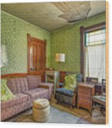 The Old Farmhouse Living Room Wood Print