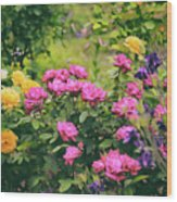 The Painted Garden Wood Print