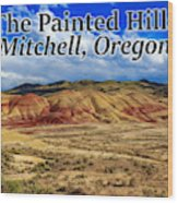 The Painted Hills Mitchell Oregon 02 Wood Print