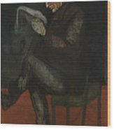 The Painters Father, Louis-auguste Wood Print