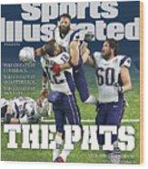 The Pats Super Bowl Li Champs Sports Illustrated Cover Wood Print
