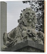The Patterson Lion Wood Print