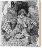 The Pilgrims Rest, Caricature Af Paul Wood Print